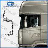 1 PAIR SCANIA GRAB LORRY SIDE WINDOW STICKER-Sticker/Decal-H 38 cm?!- show original title