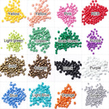 1000pcs 12Color Pearlized Rainbow Basics Multicolor Mix Plastic Craft Pony Beads  Round Opaque Lot Colorful Glass Seed Beads DIY Jewelry Making 2mm/3mm/4mm