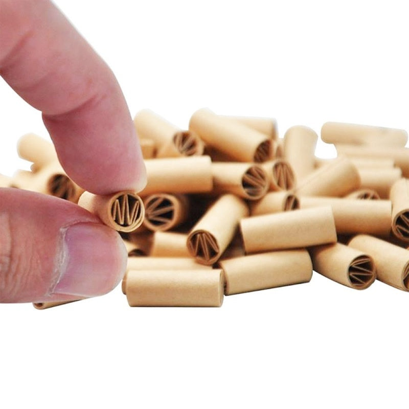 Hornet 150Pcs 6MM Natural Unrefined Pre-rolled Tips Cigarette Filter Rolling Paper for Hand Rolled Cigarettes