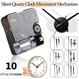 10 Styles Silent Quartz Clock Movement Mechanism DIY Kit Battery Powered Hand Tool