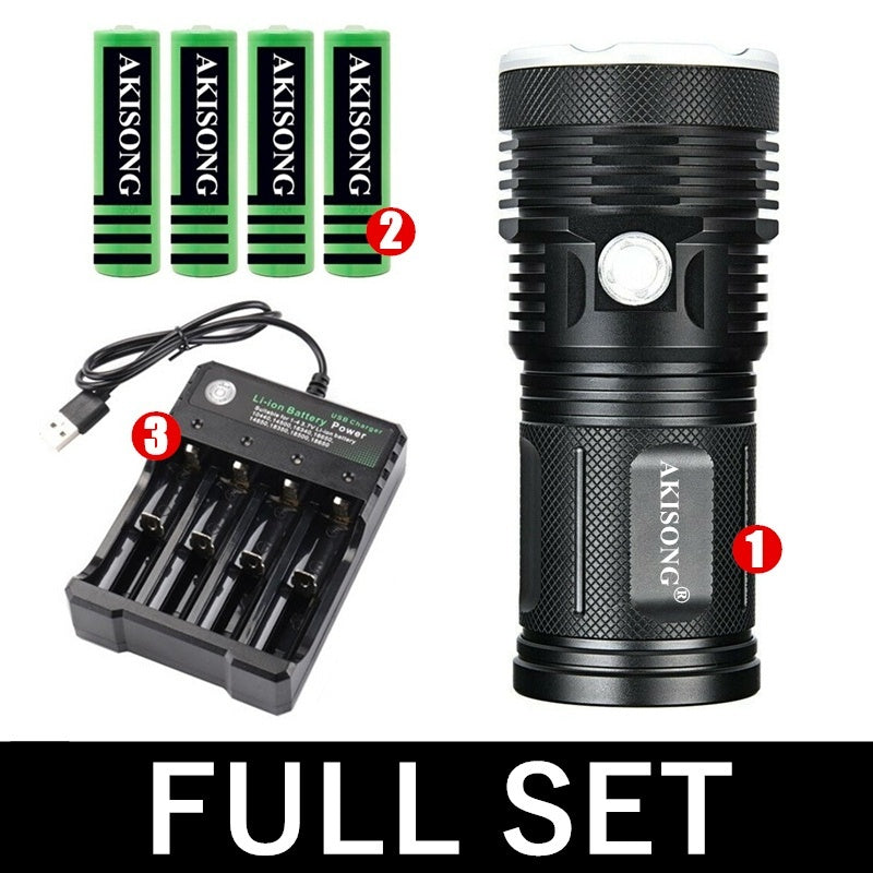 CREE XH-P90 Outdoor Hunting LED Waterproof Flashlight 100W Ultra Bright Camping Tactical Torch (2 OPTIONS)