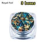 3boxes Fashion Silicone Molds DIY Craft Imitation Gold Jewelry Making Filling Materials Resin Filler Gold Foil Crystal Uv Accessories