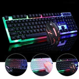 aming Keyboard and Mouse Combo Backlight Waterproof Glowing USB Wired Mechanical Gamer Keyboard+Mouse