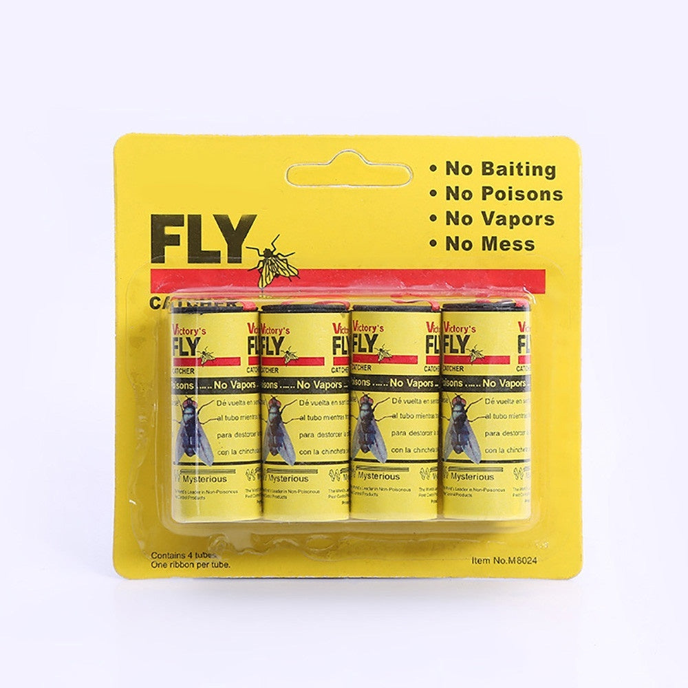 32 Rolls/ 4 Rolls Strong Sticky Fly Paper Eliminate Flies Insect Bug Glue Paper Catcher Trap Tape Bugs Catcher Strip Bugs Sticky Paper  Pest Killer (Fliegenkiller)