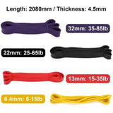 4pcs/set 8-85lb 2080x4.5mm 5pcs/set 10-70lb 600x50mm Resistance Band Exercise Elastic Band Workout Ruber Loop Strength Pilates Fitness Equipment Training Expander