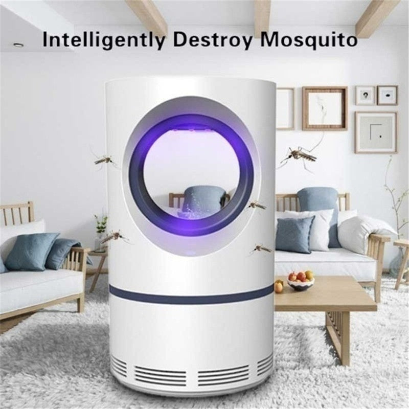 Electronic Mosquito Killer Lamp USB Rechargeable Mosquito Trap Light LED Pest Catcher Trap Light Low(Size S/L)