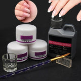 Nail Art Set Acrylic Liquid Powder Dust Pen Glass Dish Tools Kit