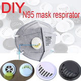 6/25/50/100pcs DIY N95 Face Mask Dust Antivirus Homemade N95 Mask Respirator Breathing Valve Personality Fashion Custom Breathing Valve N95 Mask Accessories