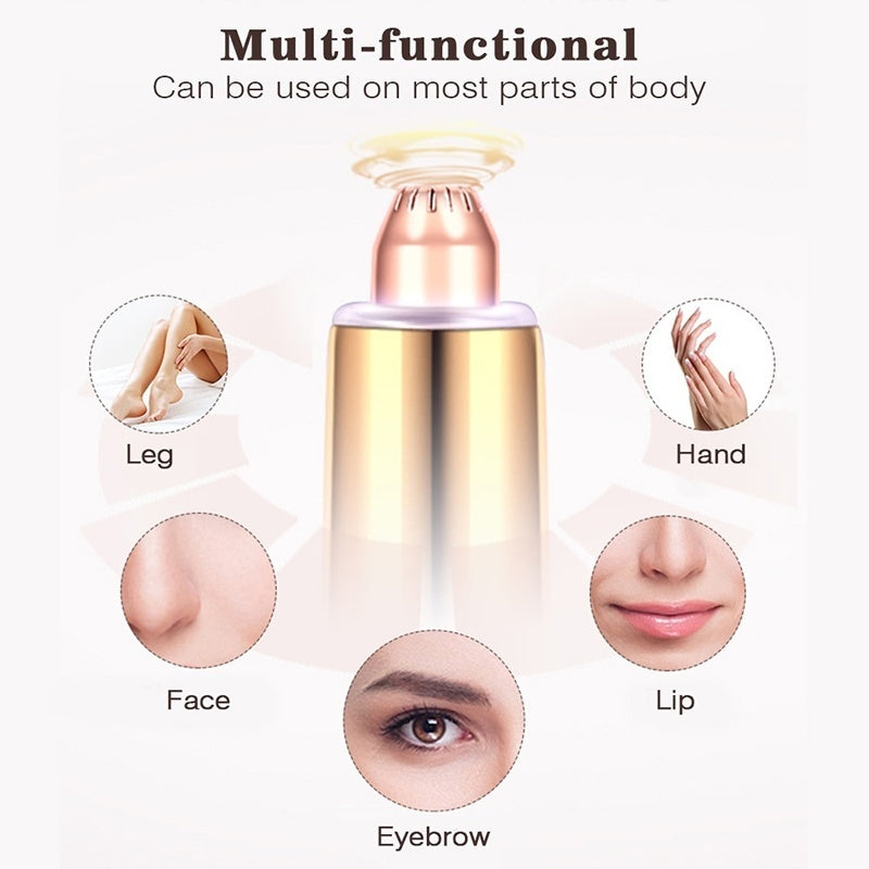 Painless Mini Electric Eyebrow Trimmer Brows Pen Hair Remover Painless Multifunction Lipstick Eye Brow Razor Epilator Safe