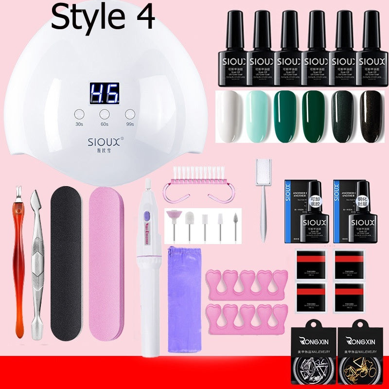 Professional Manicure Set Acrylic Nail Kit with Uv LED Lamp Electronic Nail Drill Gel Nail Polish Set with Uv Light Evetything for Manicure
