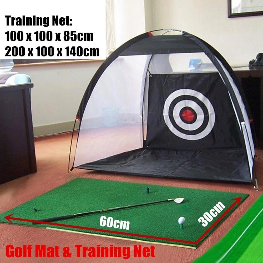 Golf Training Net Golf Practice Mat Golf Practice Net Folding Nylon Golf Chipping Net Garden Grassland Golf Training Net