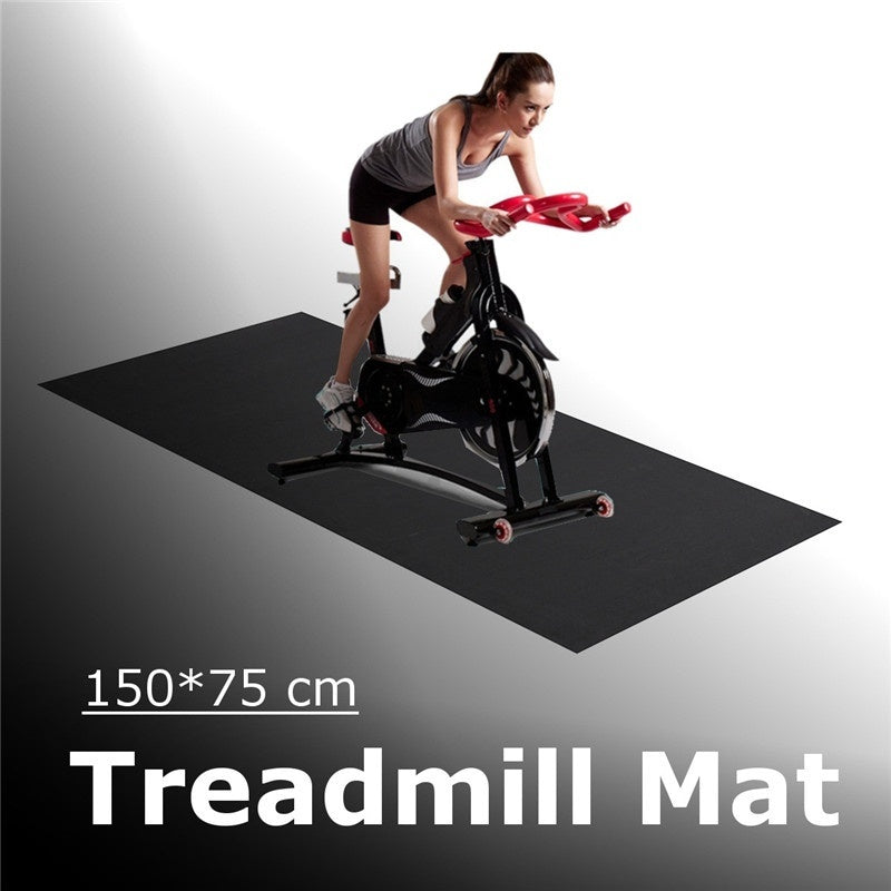 Treadmill Mat Exercise Gym Equipment Go Fit For Treadmill Bike Protect Floor Black