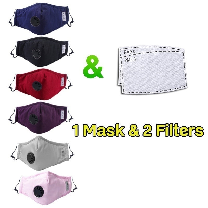 Reusable N95 KN95 Anti-dust Mask, Activated Carbon Filter Respirator, Face Mask Mouth Mask With Filters