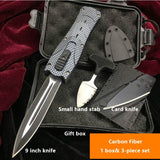 New Product Upgrades |Card knife+Push knife + Gifts Knives Set AUTO OTF Spring Assisted Tactical Knife Switchblade outdoor multitool Tanto Hunting tools 7/9 inch