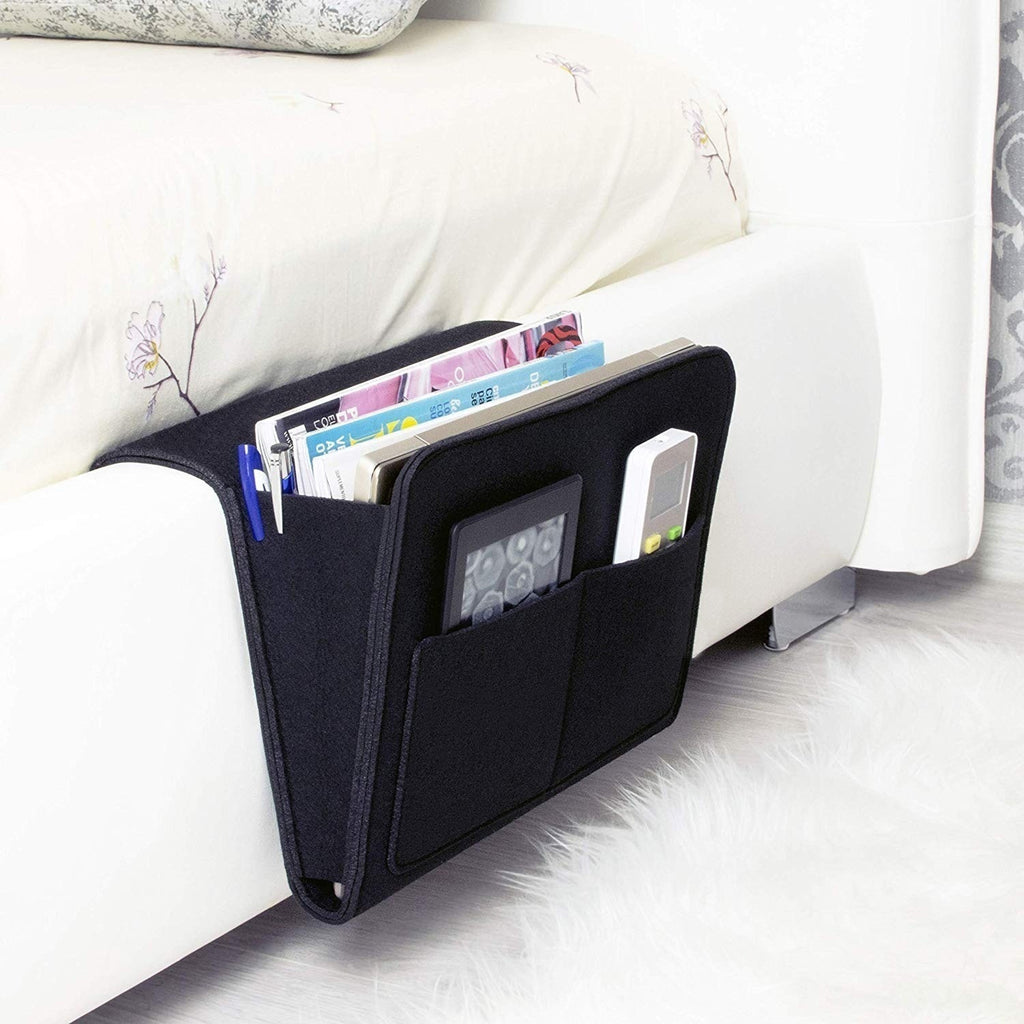 1PC Felt Bedside Sofa Storage Bag Remote Book Mobile Phone Hanging Sundries Organizer Dormitory Storage Bag