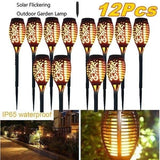 IP65 Waterproof Solar Garden Light Flickering LED Landscape Light Lawn Lamp Path Lighting Solar Outdoor Light 12/8/6/4/2pcs optional