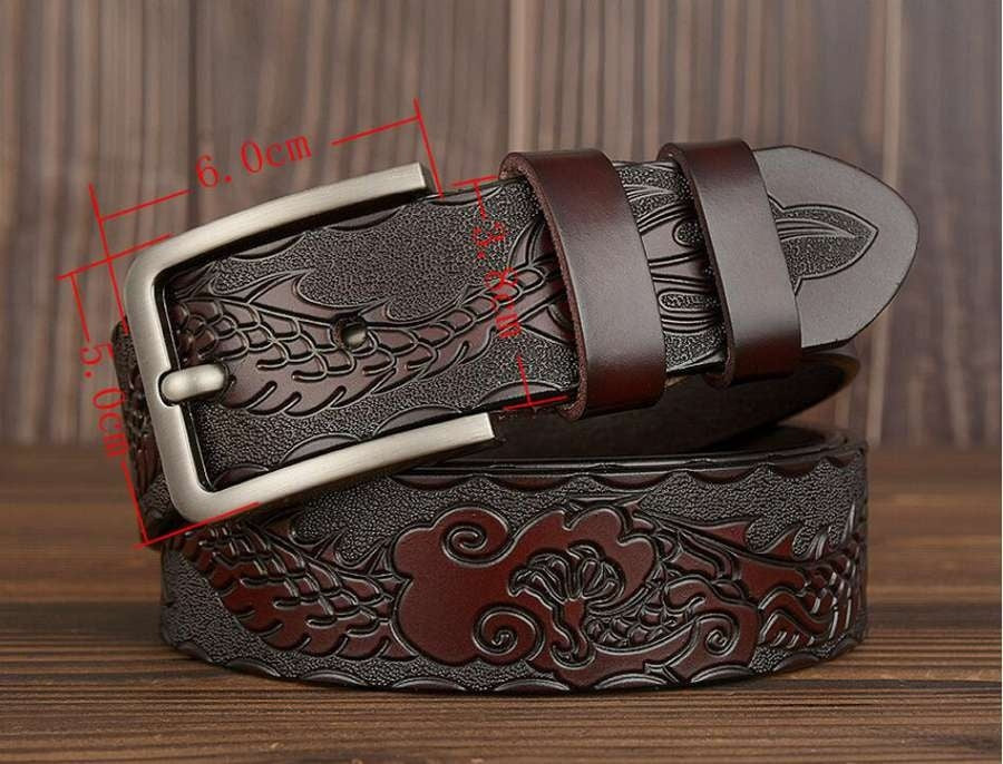 Men's Casual Leather Belt NEW Luxury Leather Belt for Men Fashion Men Cowskin Leather Belt Width:38mm