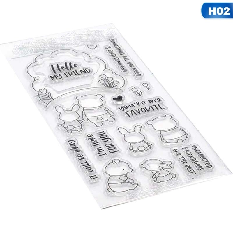 New Animal Metal Cutting Dies/Clear Stamps Transparent Silicone Seal For Diy Scrapbooking Photo Album Decorative
