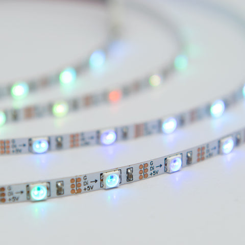 Ultra thin digital LED strip, white color