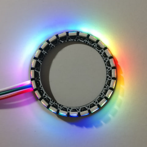 LED ring with 24 right-angle LEDs, outwards facing