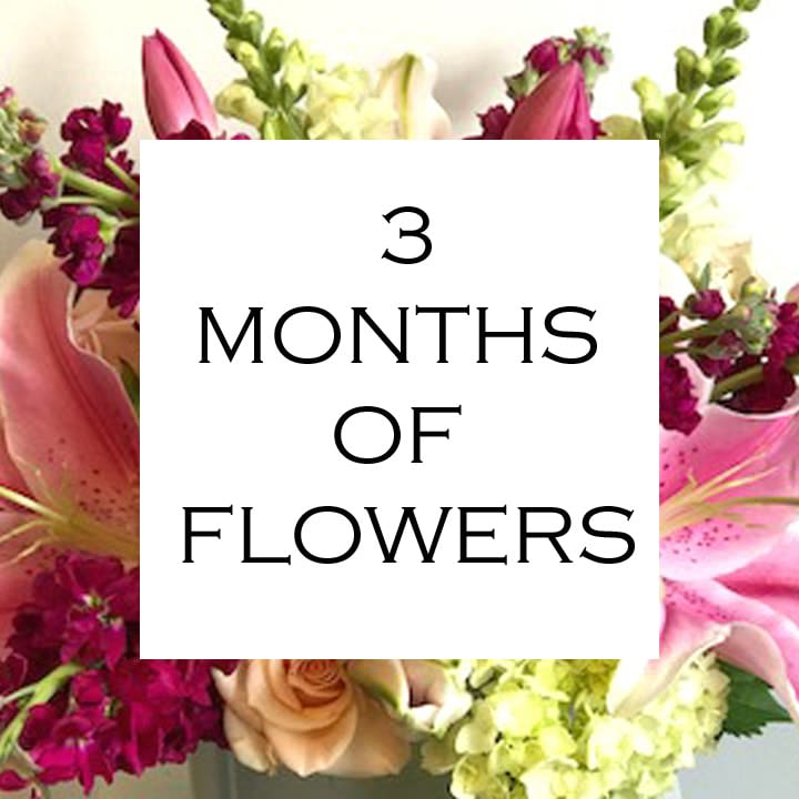3 Months of Flowers  - Daily floral delivery from Botanica Floral Design