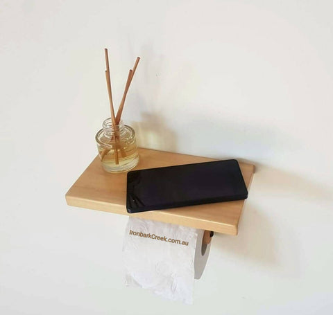 Toilet roll holder pine shelf for mobile