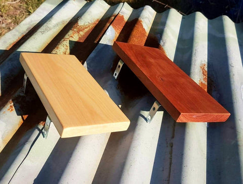Wood Shelf for incense, pot plant, phone. bathroom, bedroom, pine or mahogany timber