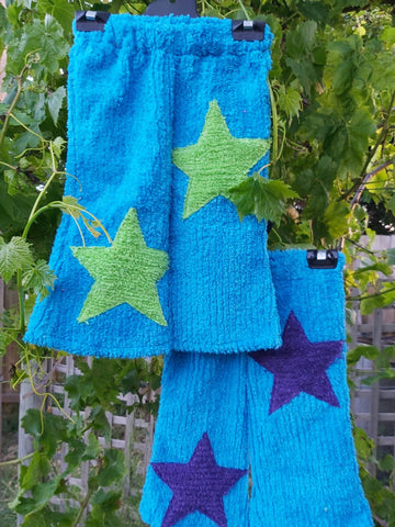 KAT 4 Kids Star Pants - Blue Size 6-10