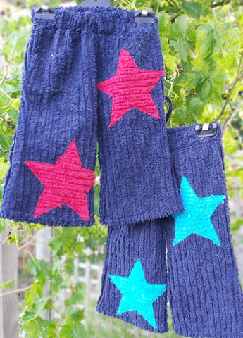 KAT 4 Kids Star Pants - Navy Size 0-4