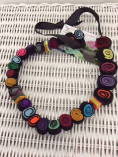 Felt 'Licorice Allsorts' Necklace