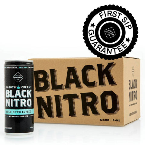 Black Nitro Organic Brew Coffee - 12 Pack