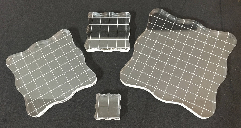 Clear Transparent Acrylic Mounting Blocks for Cling Silicone Rubber Stamps, use for Paper, Cardmaking, Scrapbooking