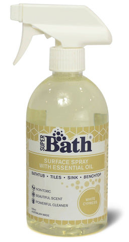 Super Bath.500ml Surfaces spray with Essential Oil-white Cypress .Australian Made