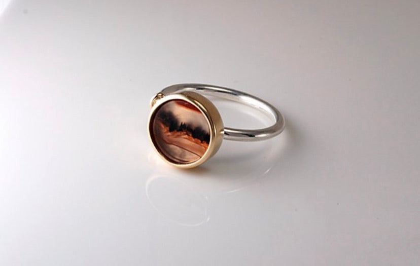 Picture Agate Ring