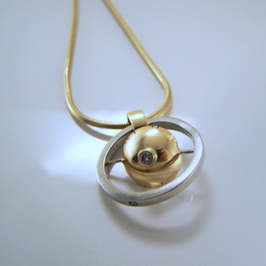 Gold Gyroscopic Pendant
