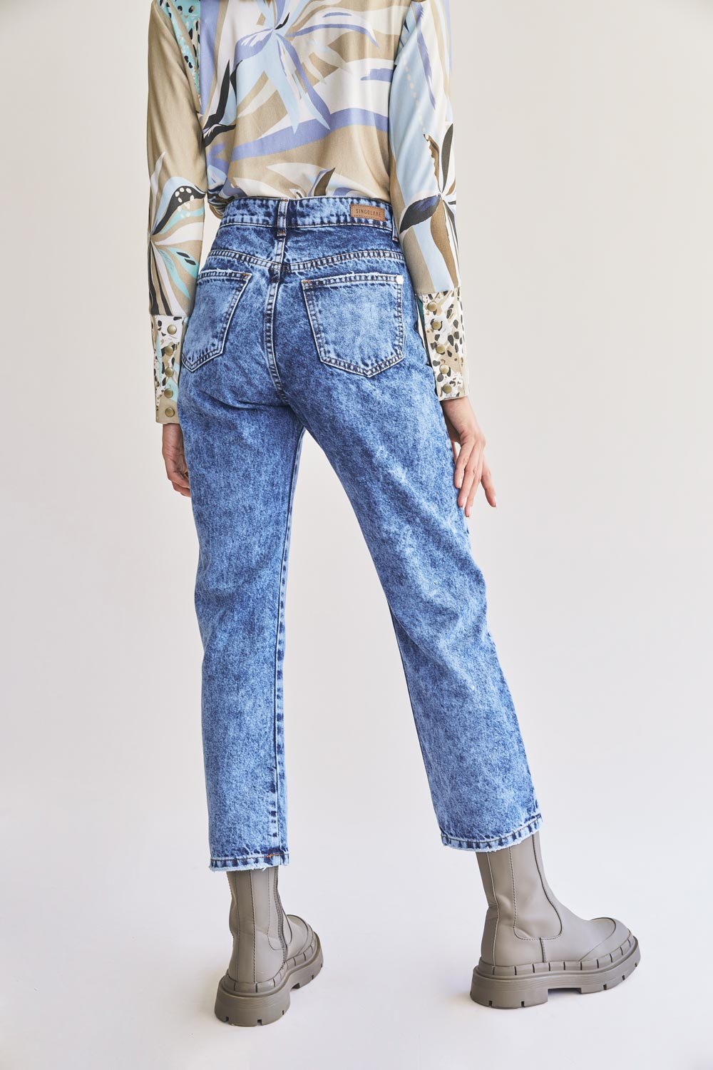 PAUL HIGH RISE STRAIGHT JEANS