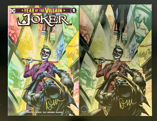 Joker Year of the Villain Midtown Exclusive with FREE Metal Print Doug Mahnke Signed COA - ONLY 20 SETS!