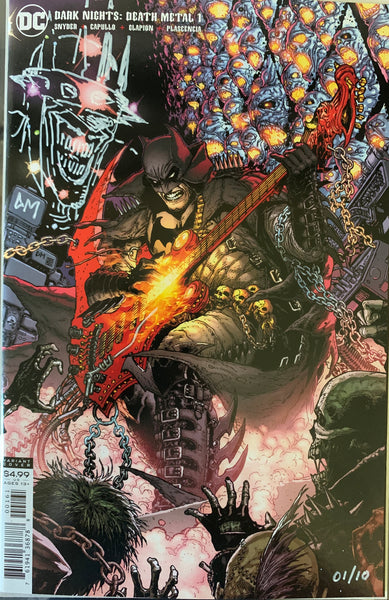 REMARQUED Dark Knights: Death Metal #1 1:25 Doug Mahnke Signed #/10 COA