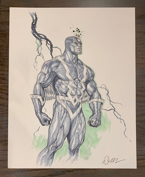 Black Bolt Doug Mahnke 11 x 14