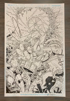 Dark Nights Death Metal #4 1:25 Variant Mahnke Original Cover Art