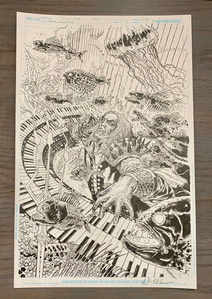 Dark Nights Death Metal #5 1:25 Variant Mahnke Original Cover Art