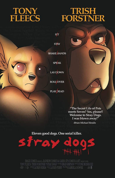 STRAY DOGS #1 - SEVEN MOVIE POSTER EXCLUSIVE LIMITED TO 500!