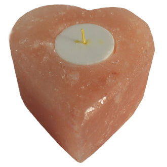 Himalayan Salt Heart Tea Light Candle Holder