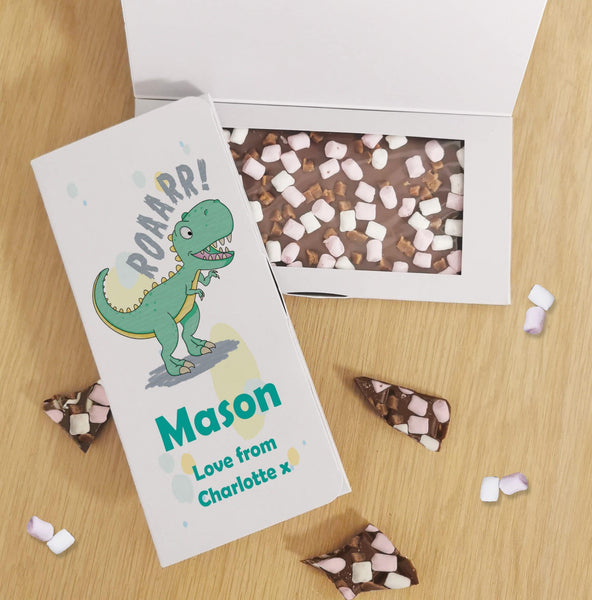 Dinosaur Rocky Road Milk Chocolate Card