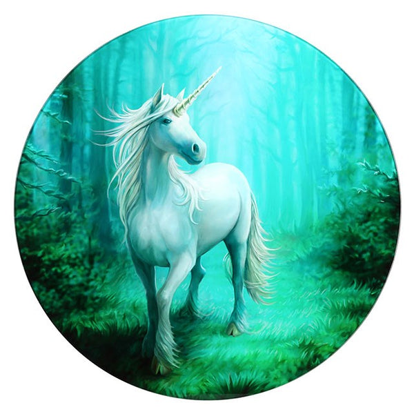 Anne Stokes Forest Unicorn Glass Topped Table