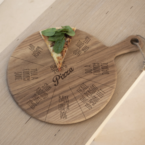 Personalised Fun Choose a Slice Game Pizza Board - Designed in England