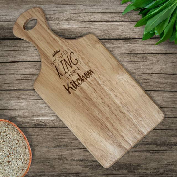 King of the Kitchen Paddle Chopping Board
