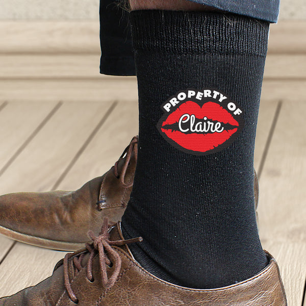 Personalised Property Of Mens Socks