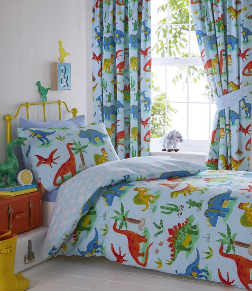 Dinosaurs Collection Pencil Pleat Curtains
