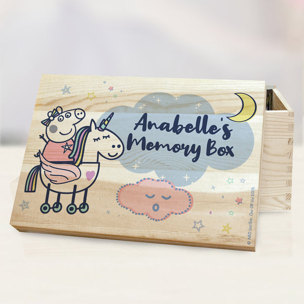 Personalised Peppa Pig™ Memory Box